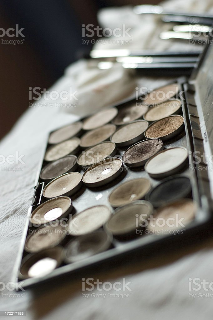 Make Up Artist's Pallate royalty-free stock photo