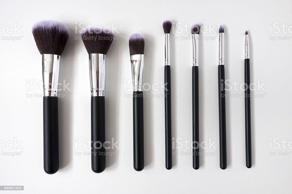 make up brush kit stock photo