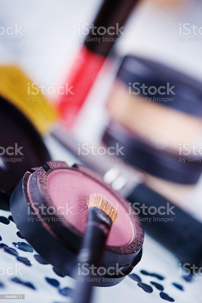 Make up - Cake eyeshadow stock photo