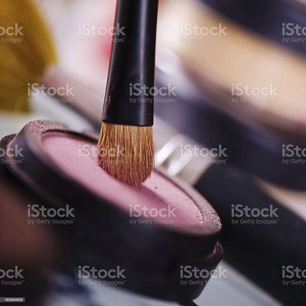 Make up - Cake eyeshadow royalty-free stock photo