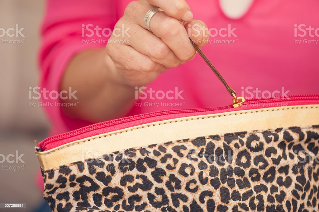 Make up container stock photo