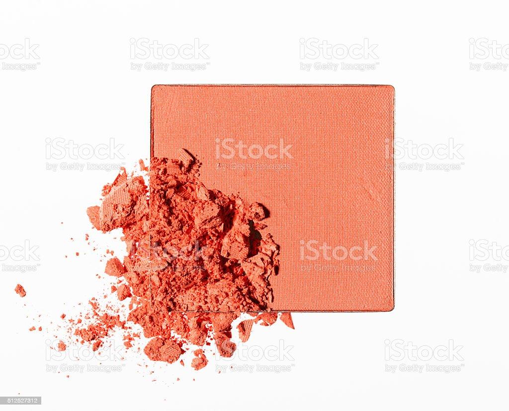 Make up crushed powder stock photo
