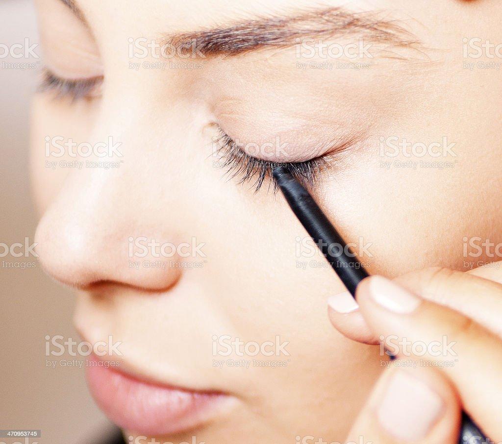 make up - Eyeliner close stock photo