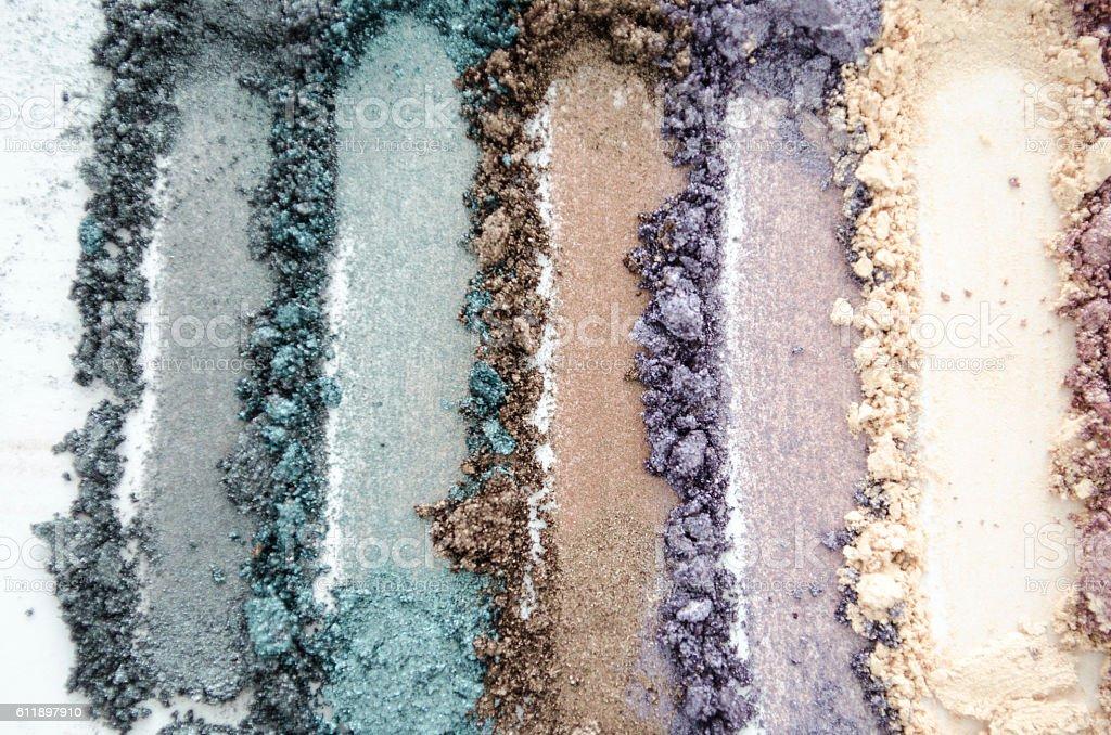 make up eyeshadow swatches stock photo