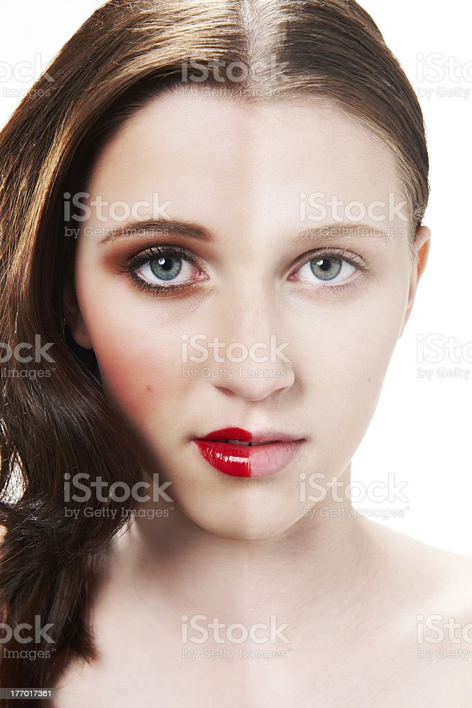 Make up face stock photo