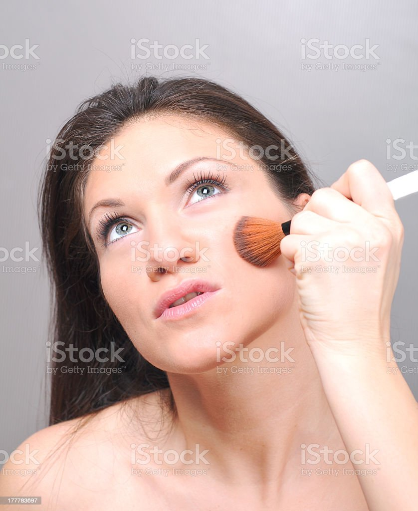 Make up girl royalty-free stock photo