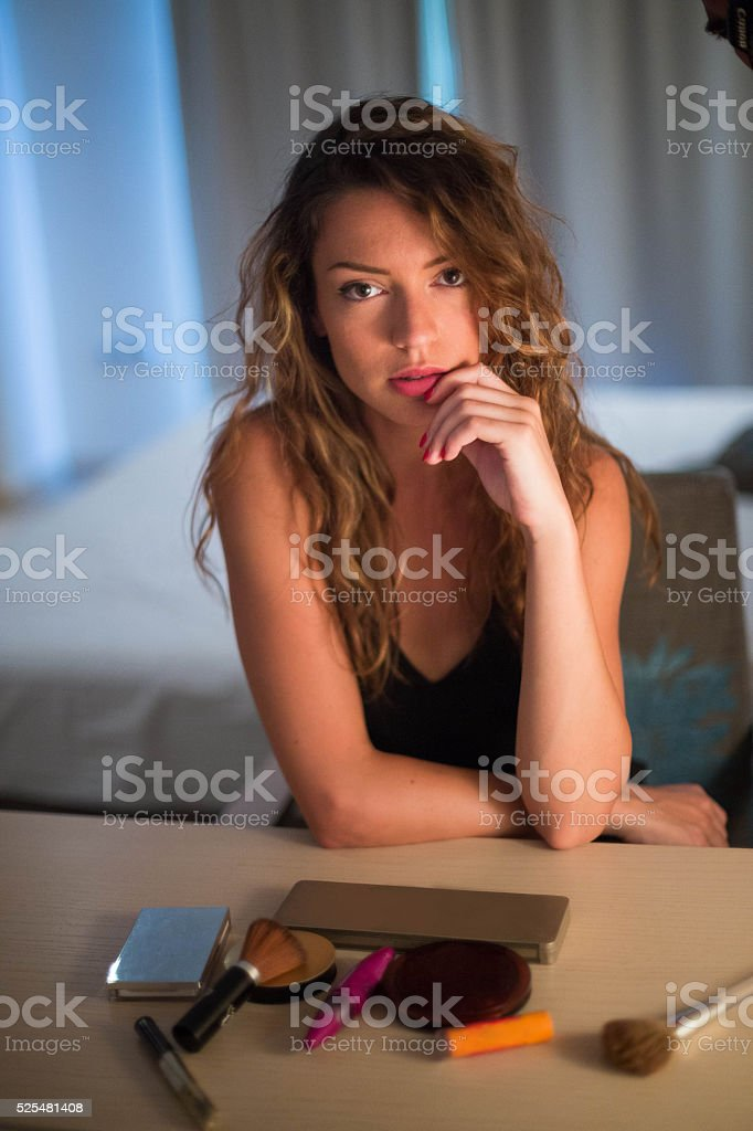 Make up is women's weapon stock photo