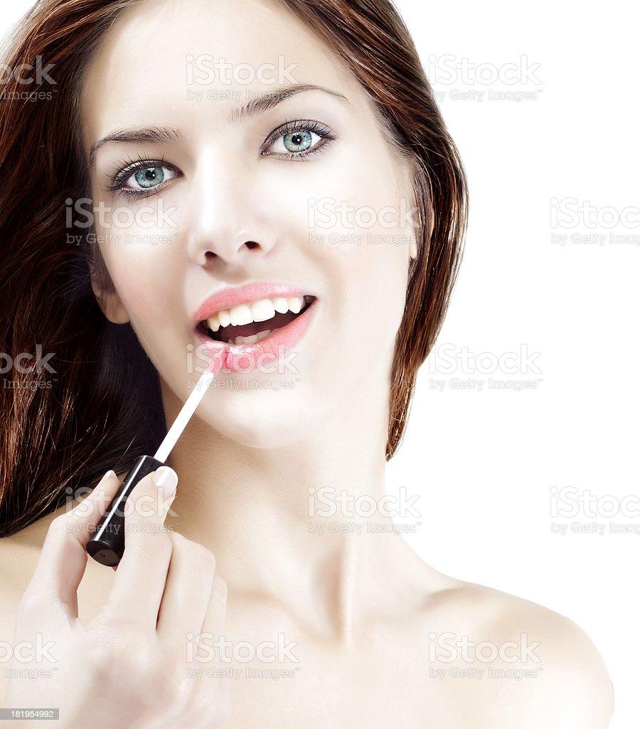 Make up, lipstick stock photo