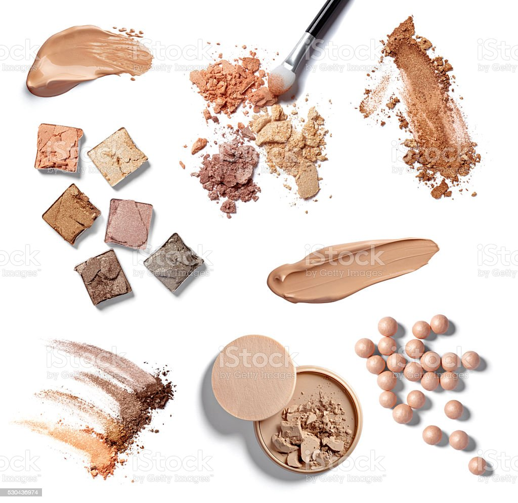 make up powder facial cosmetics stock photo