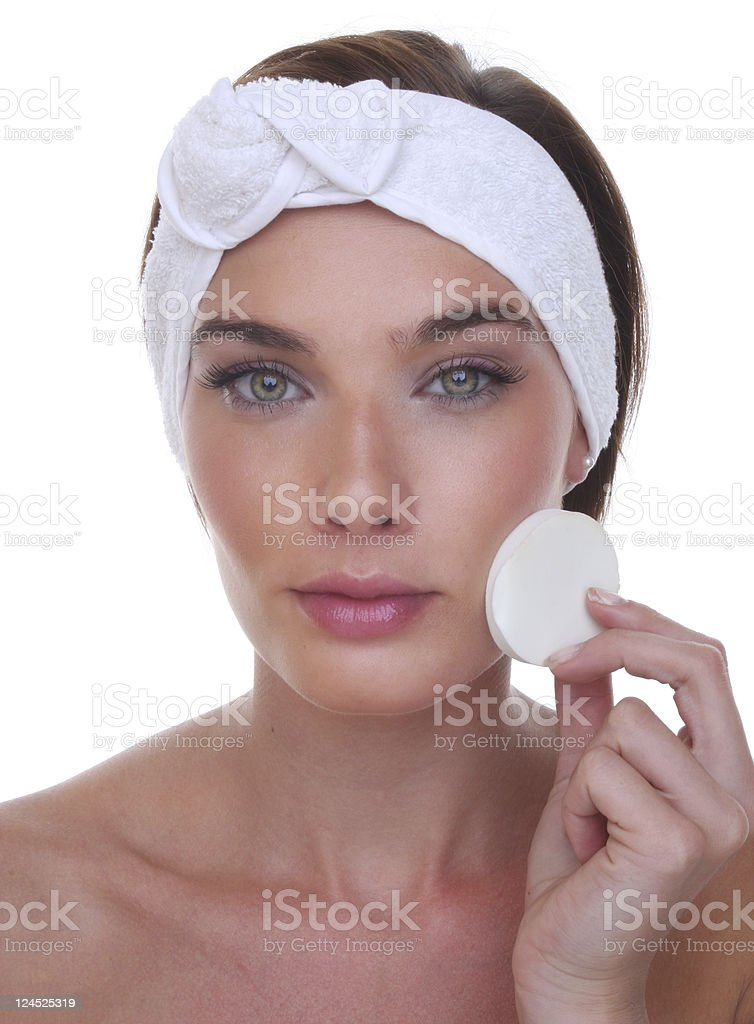 make up removal royalty-free stock photo