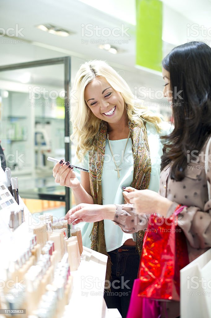 make up shoppers royalty-free stock photo