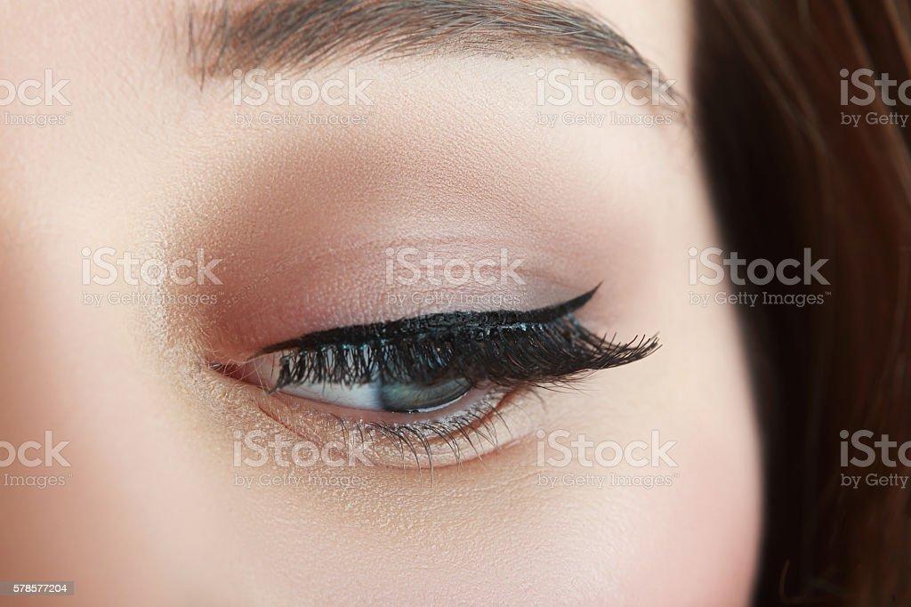 make up with black arrow stock photo