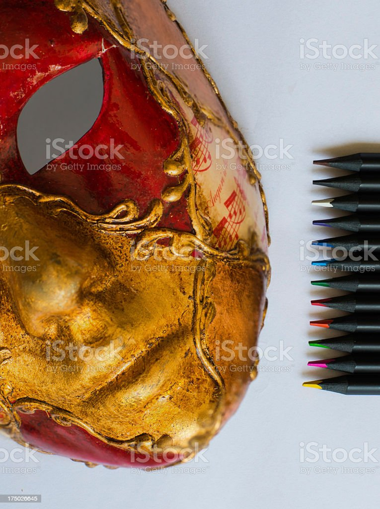 Make up with mask royalty-free stock photo
