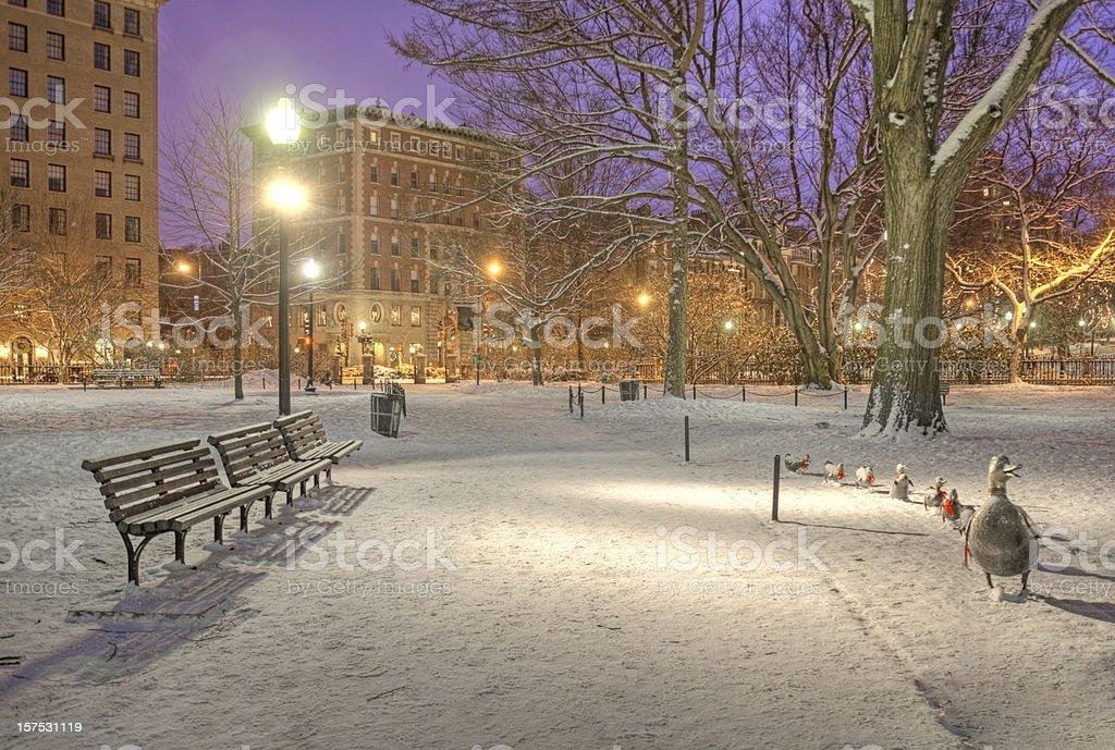Make Way for Ducklings Boston Public Garden stock photo