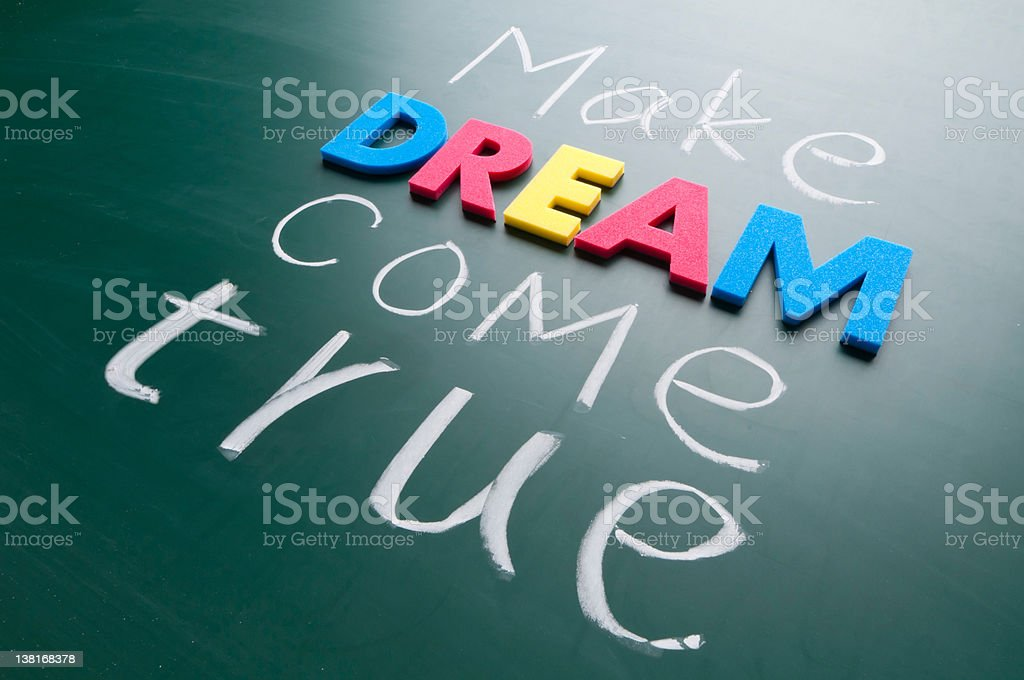 Make your dream come true royalty-free stock photo