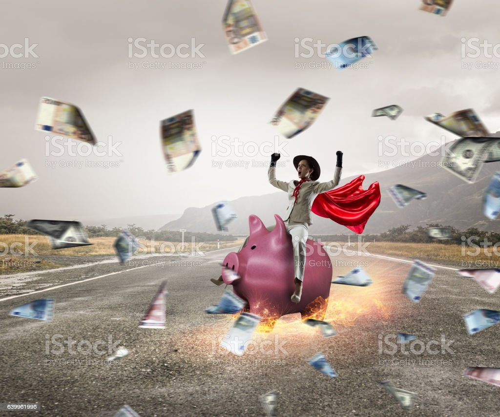 Make your savings work for you . Mixed media stock photo