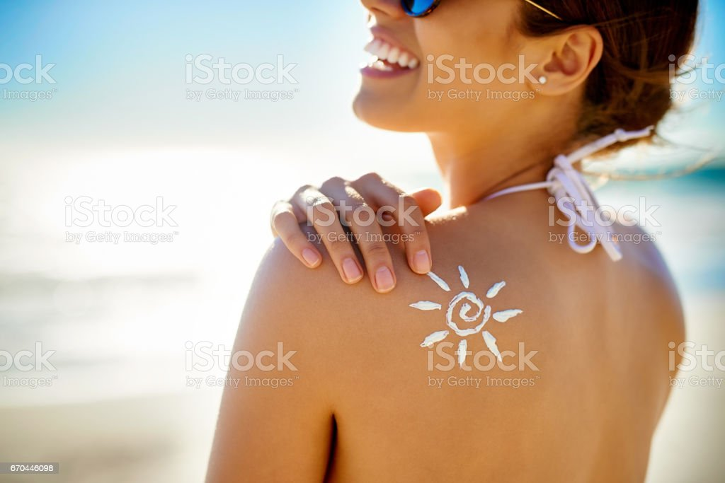 Make your SPF product your best friend stock photo
