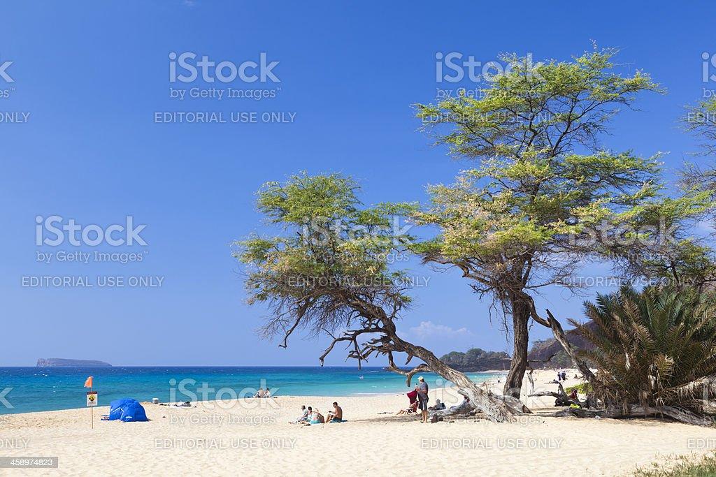 Makena Beach, Maui stock photo