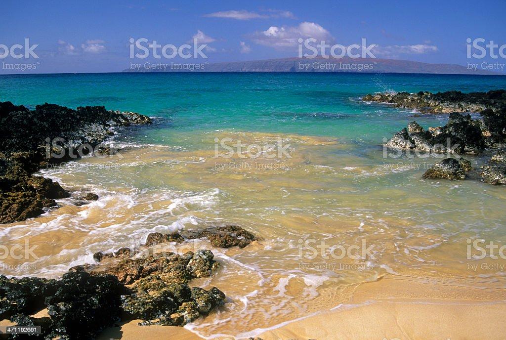 Makena Beach on Maui in Hawaii royalty-free stock photo