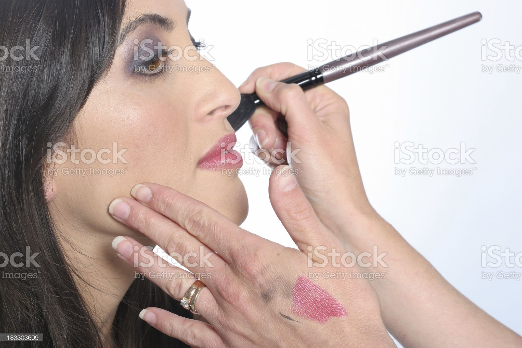 makeover by makeup artist royalty-free stock photo