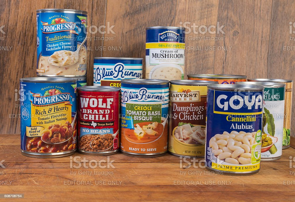 Makeshift Food Pantry stock photo