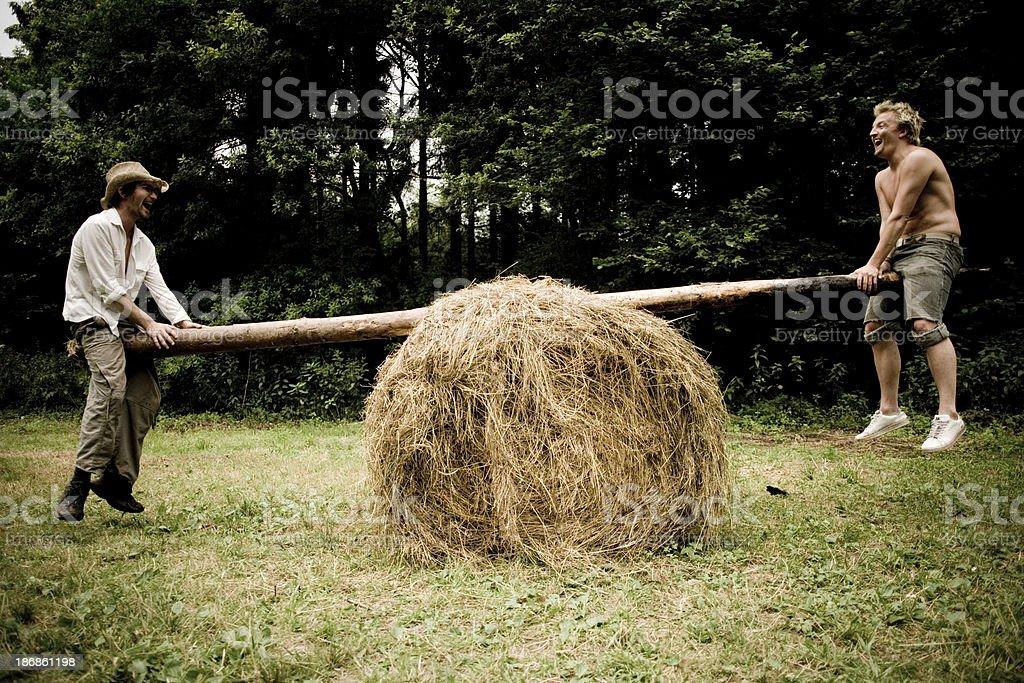 Makeshift SeeSaw stock photo