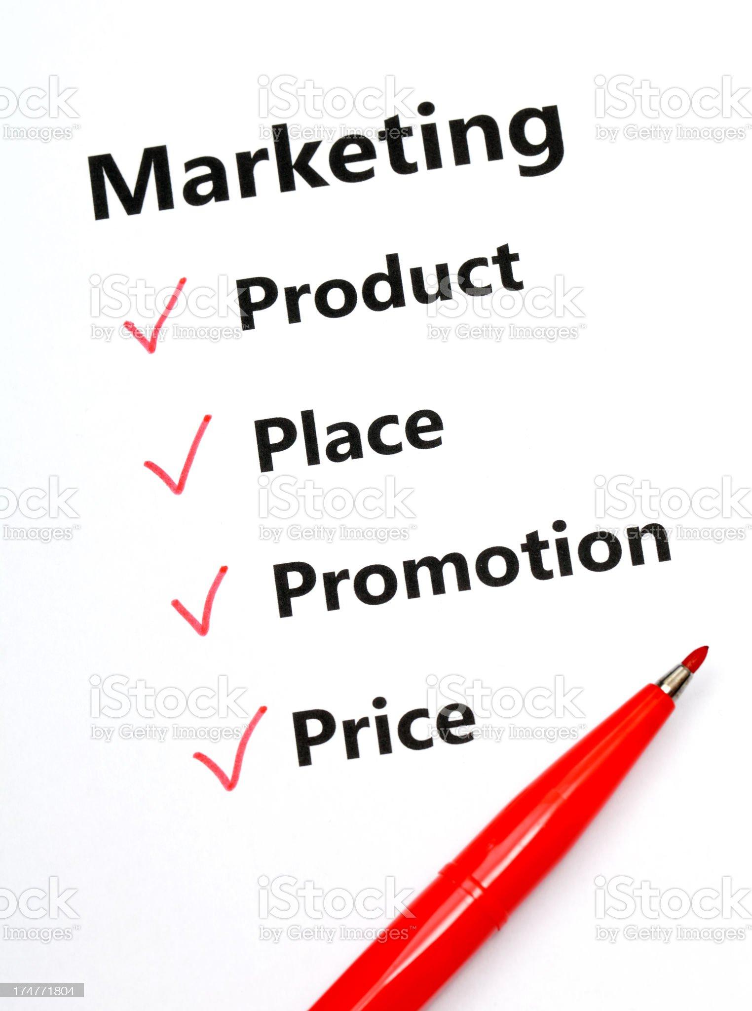 Maketing plan concept royalty-free stock photo