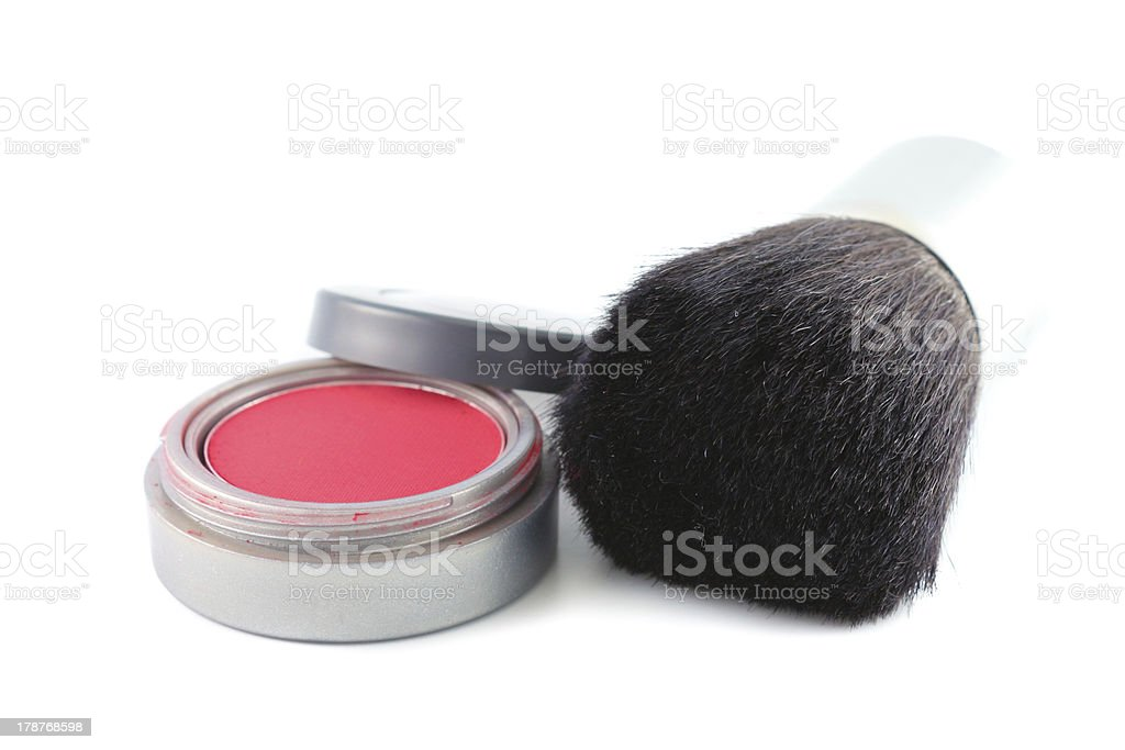 Makeup and Brush royalty-free stock photo