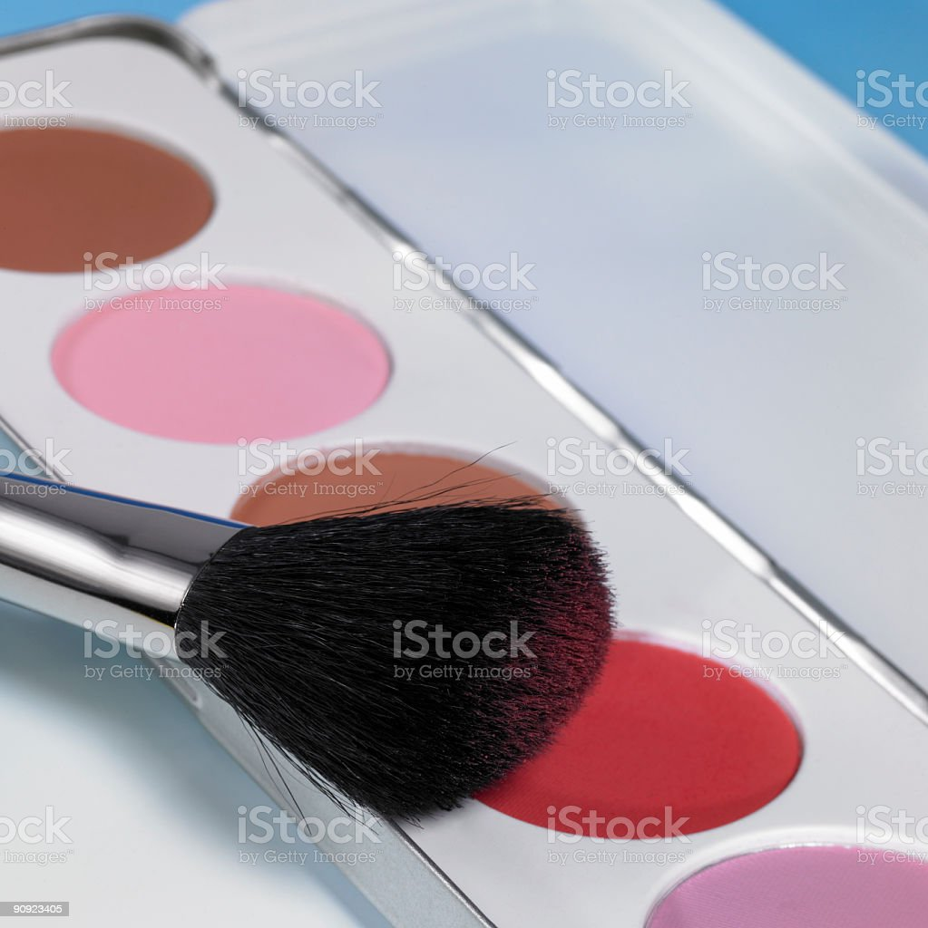 make-up and brush royalty-free stock photo