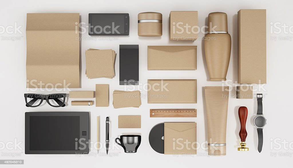 Makeup and identity templates stock photo
