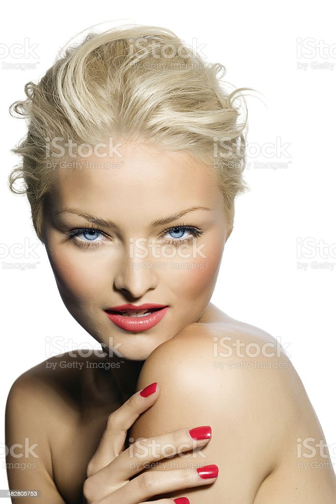 Makeup And Manicure royalty-free stock photo