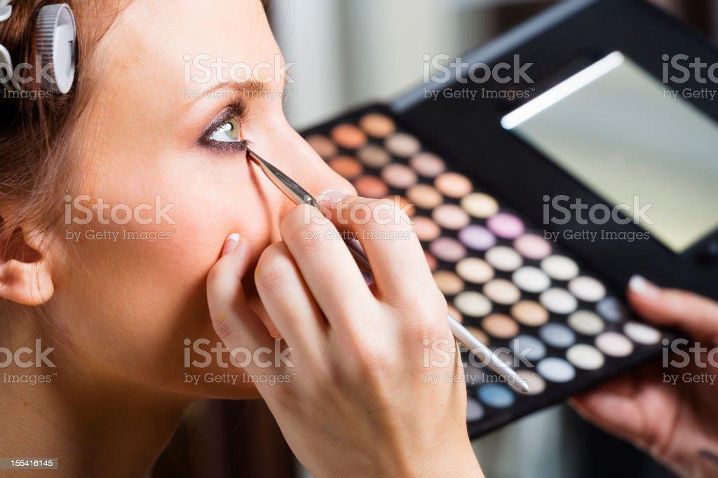 Makeup Application stock photo