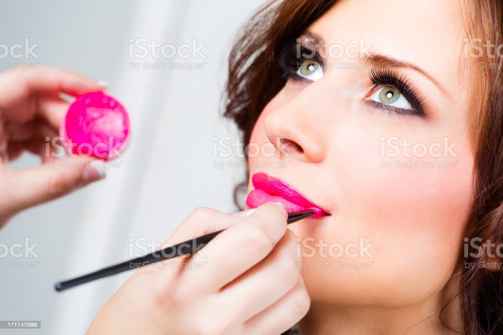 Makeup Application royalty-free stock photo