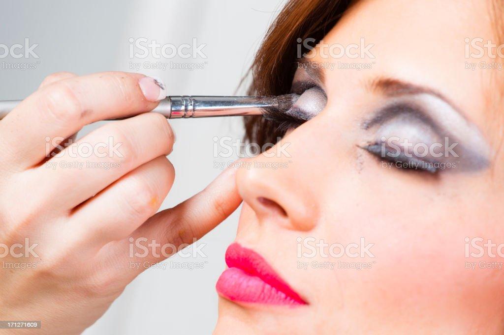 Makeup Application royalty-free stock photo