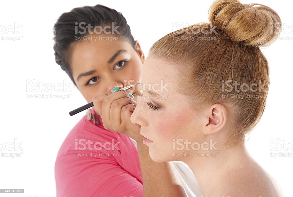Make-up artist at work. royalty-free stock photo