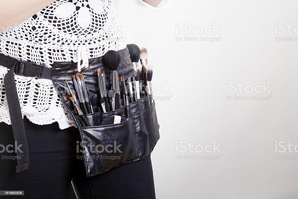 Makeup artist close-up stock photo
