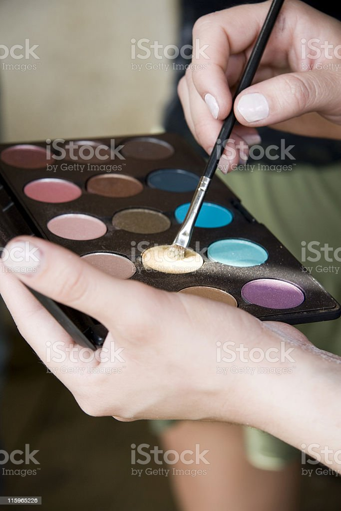 Make-up Artist Color Pallette royalty-free stock photo