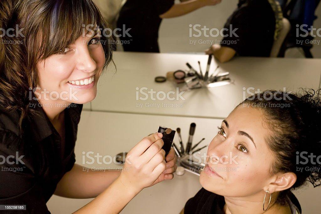 Makeup artist royalty-free stock photo