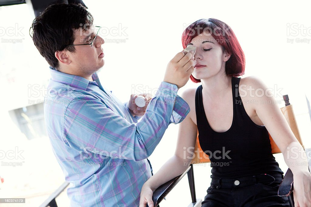 Makeup Artist royalty-free stock photo