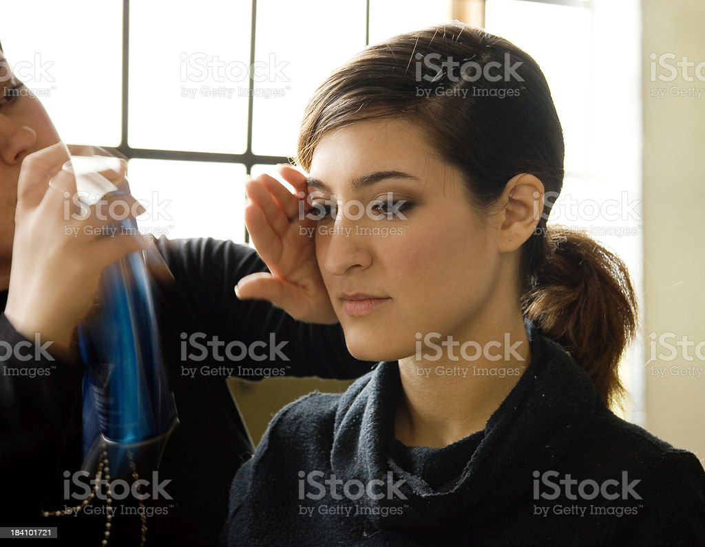 Makeup Artist (with motion) royalty-free stock photo