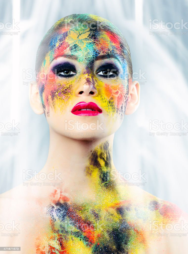 makeup beauty royalty-free stock photo