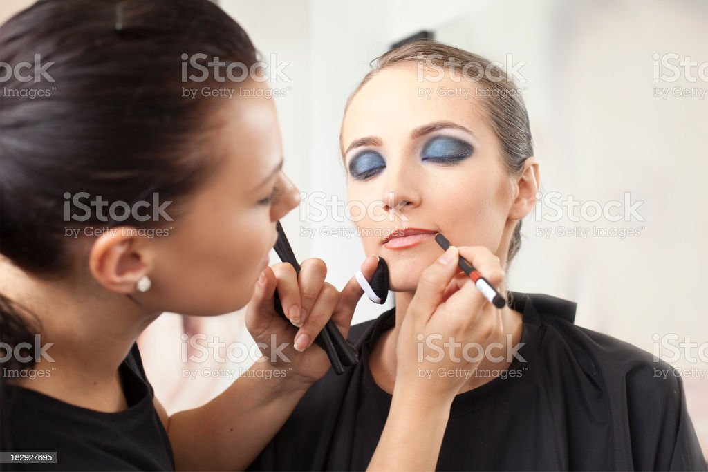 Make-up before show royalty-free stock photo