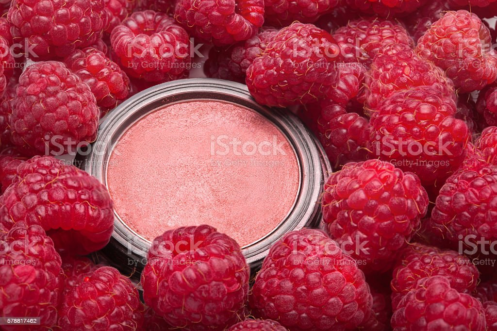 make-up blusher in box stock photo