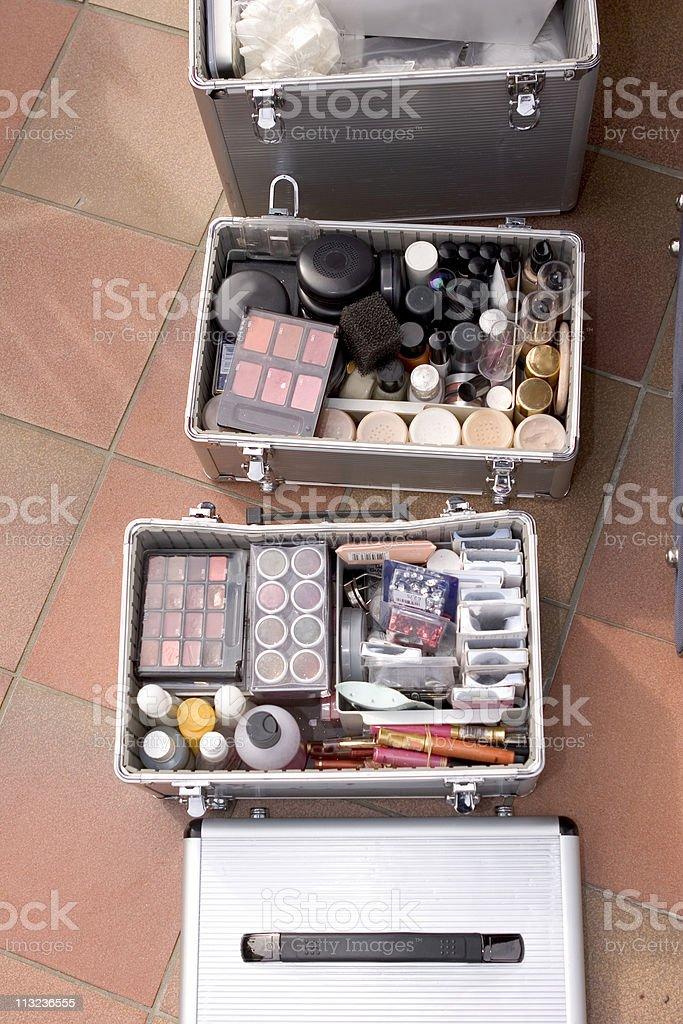 makeup boxes stock photo