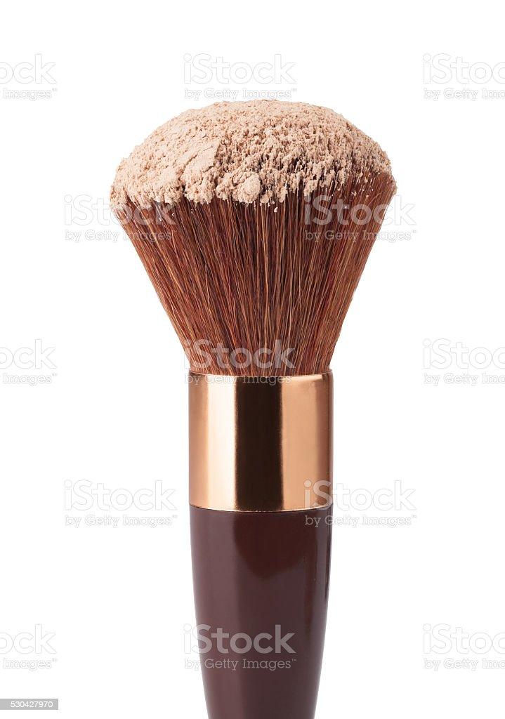 Makeup Brush and Powder stock photo