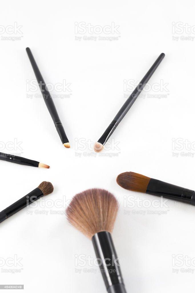 makeup brush on white background royalty-free stock photo