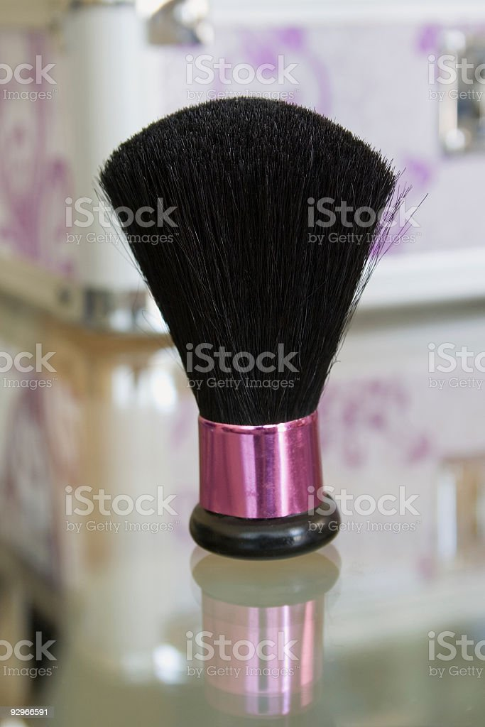 Makeup brush royalty-free stock photo