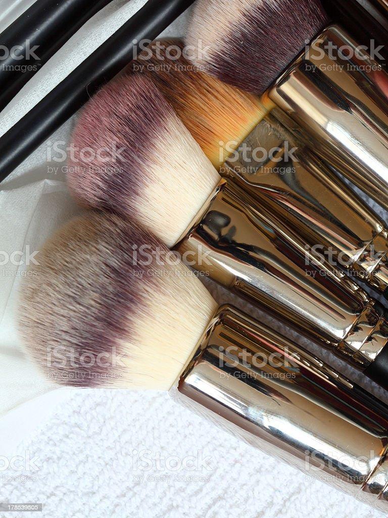 make-up brushes - beauty treatment royalty-free stock photo