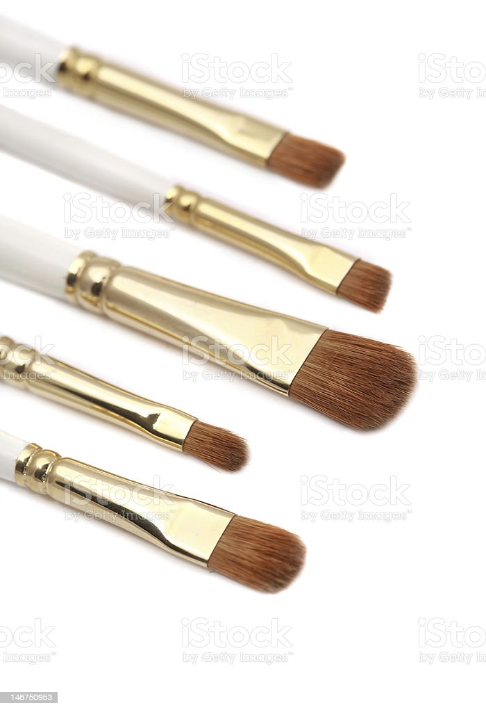 makeup brushes isolated royalty-free stock photo