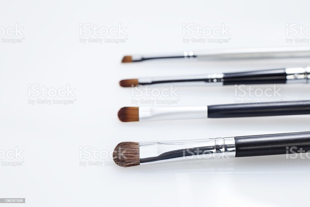 Makeup brushes. royalty-free stock photo